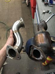 stock cat vs catless downpipe
